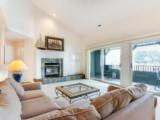 Chic lakefront home with shared pool plus calming views, large balcony - Harrison vacation rentals
