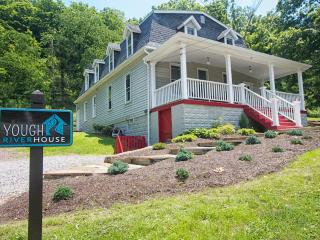 Home on Yough River, bike trail w/ hot tub - Confluence vacation rentals