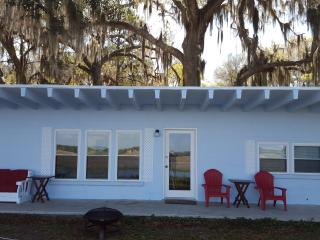 Waterfront  Remodeled Cottage on 18 Acres Fenced & Gated, Minutes from Ocean - Crescent vacation rentals