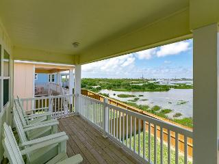 Wetland Views in a Great Location – Port A Stilt House with Deck, Sleeps 10 - Port Aransas vacation rentals