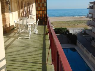Sunny apartment with sea view and pool - Castelldefels vacation rentals