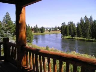 River Front Cabin near Yellowstone NP.  Sleeps up to 20.  Available Year Round - Island Park vacation rentals