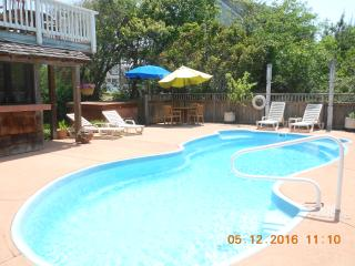 Close to the ocean with a view.  Salt water pool - Kitty Hawk vacation rentals