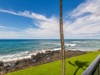 Free Mid-size car with Kuhio Shores 215-Ocean front 2 bedroom. Sleeps 6. - Poipu vacation rentals