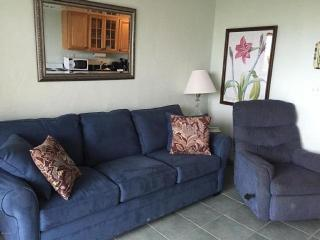 Ocean Front Condo With Heated Pool outdoor patio - Saint Augustine Beach vacation rentals