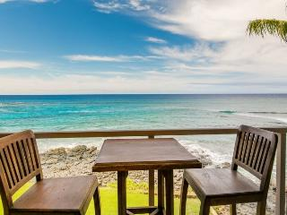 Kuhio Shores 319-Gorgeous 2b corner condo ocean front with FREE mid-size car - Poipu vacation rentals