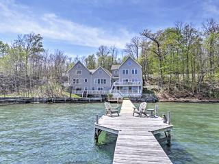 'Lakeside Harmony' Magnificent 4BR + Sleeping Loft Geneva House on Seneca Lake w/Private Hot Tub, Dock & Direct Lakefront Access - Ideal for Reunions & Multi-Family Getaways! - Geneva vacation rentals