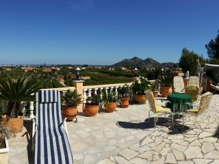 Large panoramic terrace with swimming pool - Pedreguer vacation rentals