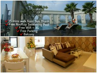 ⭐Central BRANDNEW 1BR Apt free Rooftop Pool - Ho Chi Minh City vacation rentals