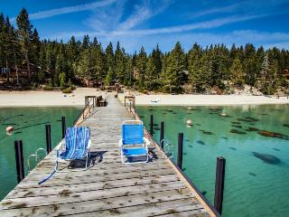 Dog-friendly, cabin-style home w/ deck & badminton court - walk to the beach! - Tahoma vacation rentals