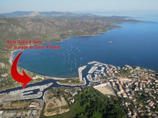 STUDIO +parkings+anneau pour bateau sur la plage ! - Saint Florent vacation rentals