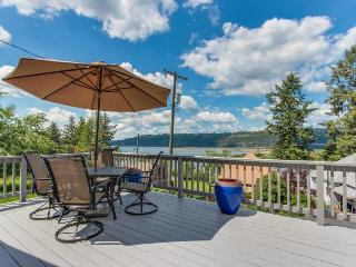Dog-friendly cottage w/ sunny deck & lake view - nearby beach access! - Harrison vacation rentals