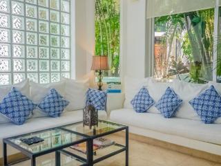 2 Bedroom Luxury condo Rental with 2 story high Living Room - Playa del Carmen vacation rentals
