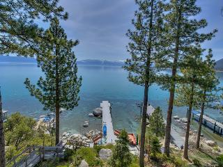 Large home with hot tub, private dock, great outdoor space - right on the lake - Meeks Bay Getaway - Tahoma vacation rentals