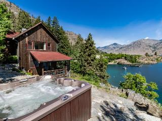 Escape with this wonderful waterfront cabin with dock & hot tub - Chelan vacation rentals