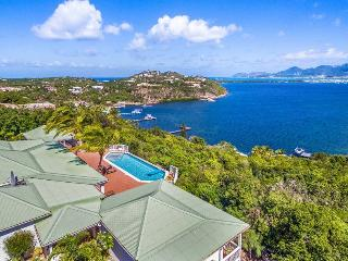 FIELDS OF AMBROSIA... charming hillside villa... privacy in each BR + views!... - Terres Basses vacation rentals
