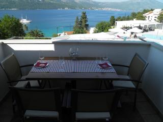 Apartment Mirta - sea view from bed - Korcula Town vacation rentals