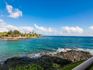 Kuhio Shores 207 Spectacular oceanfront 1bd with awesome ocean views. Watch the sea turtles from your lanai. Free car with stays 7 nts or more* - Koloa vacation rentals