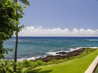 Free Mid-Size Car with Oceanfront Kuhio Shores with Lanai 50 Ft. from Snorkeling - Koloa vacation rentals
