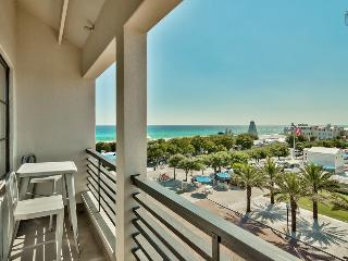 Romantic condo right in Seaside, overlooking amphitheater with ocean views - Love Monkey - Santa Rosa Beach vacation rentals