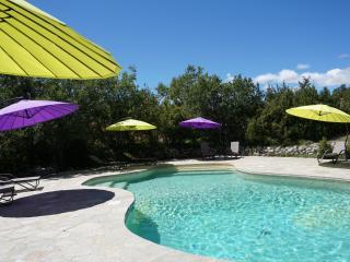 Haute Provence, La Buisse gîte Lubéron 8p, piscine chauffée, tennis, spa, sauna - Banon vacation rentals