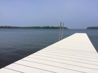 REMODELED, 250' WATERFRONT, 6 Wooded Acres, New Dock, Huge Deck - Sister Bay vacation rentals