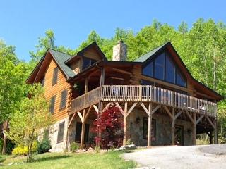 5 BR Upscale Mountain Log Home - Great Views - Black Mountain vacation rentals