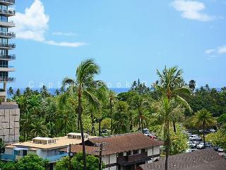 Heart of Waikiki! 2 bedrooms/1 bath. Partial ocean view!  Fireworks view! - Waikiki vacation rentals