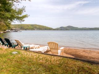 "Fall Rates Reduced! ""Beach House"" Charming 3BR + Loft Hague Cottage w/Wifi & Private Beach - Steps from Swimming, Boating & Fishing on Lake George! - Hague vacation rentals"