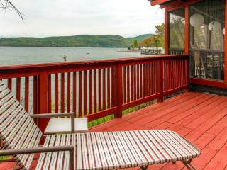 "Fall Special! ""Cook House"" Cozy 3BR Hague Cottage w/Fireplace & Beautiful Porch Overlooking the Water - Amazing Waterfront Location on Lake George! - Hague vacation rentals"
