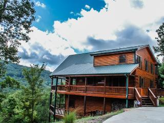 LIGHT`S LAKE OVERLOOK LODGE- 5BR/3BA- LUXURY CABIN WITH BEAUTIFUL MOUNTAIN AND LAKE BLUE RIDGE VIEWS, SLEEPS 14, HOT TUB, INDOOR AND OUTDOOR FIREPLACES, POOL TABLE, FIRE PIT, WIFI, HORSE SHOE PIT! STARTING AT $400/NIGHT! - Blue Ridge vacation rentals