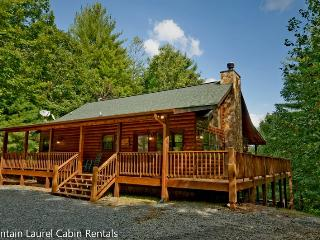 LAZY BEAR LODGE- 4BR/2BA- CABIN SLEEPS 10- WIFI, POOL TABLE, FIRE PIT, WOOD BURNING FIREPLACE, HOT TUB, AND GAS GRILL! STARTING AT $175 A NIGHT! - Blue Ridge vacation rentals