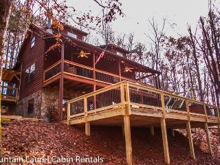 BEAR HAMMOCK- 4BR/3BA- LUXURY CABIN WITH A BEAUTIFUL MOUNTAIN VIEW, POOL TABLE/PING PONG, WET BAR, WOOD BURNING FIREPLACE, GAS & CHARCOAL GRILLS, HOT TUB, AND PET FRIENDLY! STARTING AT $175 A NIGHT! - Blue Ridge vacation rentals
