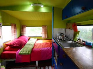 Rainbow caravan on Ecofarm Asturias - Nava vacation rentals