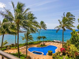 Whalers Cove 230 exquisite ocean front 2bd with stunning ocean views-heated pool, hot tub. Free car with stays 7 nts or more* - Koloa vacation rentals