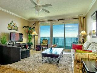 Fabulous view from the living room which opens onto a very large balcony - 2 Bedroom Family Condo -GULF BEACH FRONT - Panama City Beach - rentals