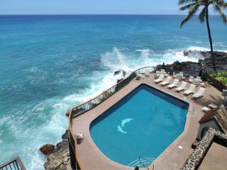 Poipu Shores Resort 302B 3BR/2BA Oceanfront.  HUGE lanai on the sea. Heated Pool - Koloa vacation rentals
