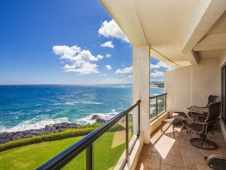 Poipu Shores 304A Gorgeous, renovated oceanfront 2 bed/2 bath gem, heated Pool! Free car with stays 7 nts or more* - Poipu vacation rentals