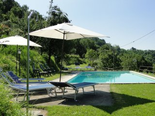 Vallecchia,  large sunny private pool, WIFI, mountain views, walk to restaurant - Fosciandora vacation rentals
