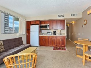 Ocean View with central A/C and just a 5 minute walk to beach!  Sleeps 4 - Waikiki vacation rentals
