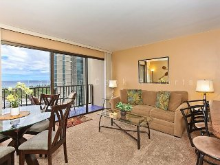 Secure one-bedroom with full kitchen, washlet,parking & ocean/sunset views! - Waikiki vacation rentals
