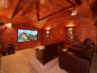 Private Theater Room - Luxury 3 bedroom cabin - Gatlinburg vacation rentals