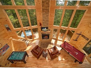 2 Bedroom Cabin with Unique Flooplan Featuring an 18 Foot Tower Rain Shower! - Gatlinburg vacation rentals