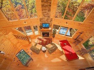 Amazing 2 bedroom Romantic Cabin - 18 Foot Rain Tower Shower - Gatlinburg vacation rentals