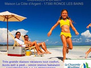 Grand gite vacances bord de mer 6/15 personnes - location familles, groupes - Ronce-les-Bains vacation rentals