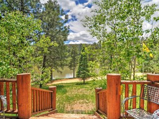 Peaceful 3BR Pendaries Mountain Cabin w/Large Deck & Tranquil Spring Lake + Golf Course Views - Near Hiking, Fly Fishing & Skiing! - Rociada vacation rentals