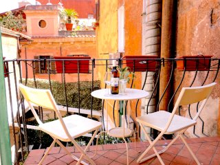 Rome: Modern Design in Trendy Trastevere, 2 Bdrs, 2 Baths, Great Kitchen,  Dining Room, & Terrace - Rome vacation rentals
