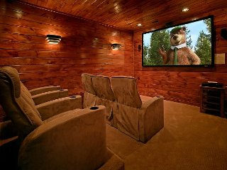 3 Master Suite Cabin with Private Home Theater Room and Sauna - Gatlinburg vacation rentals