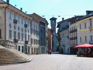 Bellinzona Piazza Collegiata - pedestrian zone - Bellinzona vacation rentals