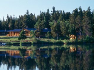 Rustic Log Cabin #4 at Chaunigan Lake Lodge - Nemaiah Valley vacation rentals
